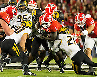 ATHENS, GEORGIA - October 17, 2015: The University of Georgia Bulldogs play the Missouri Tigers at Sanford Stadium.  Final score University of Georgia 9, Missouri 6.