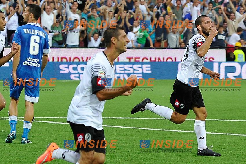 esultanza gol Guido Marilungo Cesena  Goal celebration <br /> Cesena 20-09-2014 Stadio Dino Manuzzi - Football Calcio Serie A Cesena - Empoli foto Luca Gambuti/Image Sport/Insidefoto