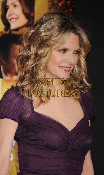 "Michelle Pfeiffer.The World Premiere of ""New Year's Eve' held at The Grauman's Chinese Theatre in Hollywood, California, USA..December 5th, 2011.headshot portrait purple .CAP/ROT/TM.©Tony Michaels/Roth Stock/Capital Pictures"