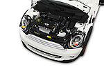 Car Stock 2015 MINI Mini Cooper 2 Door Coupe Engine high angle detail view