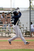 Jabari Blash #7 of the Seattle Mariners plays in a minor league spring training game against the San Diego Padres at the Padres minor league complex on March 19, 2011  in Peoria, Arizona. .Photo by:  Bill Mitchell/Four Seam Images.