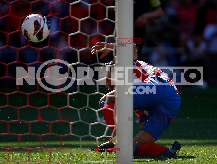 Atletico's Falcao scores goal during La Liga BBVA match. April 14, 2013.(ALTERPHOTOS/Alconada)
