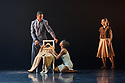 "Ballet Black presents a double bill of ""The Suit"", choreographed by Cathy Marston, and ""A Dream Within A Midsummer Night's Dream"", choreographed by Arthur Pita, in the Barbican theatre. Shown here is: ""The Suit"". Picture shows: Jose Alves (Philemon), Cira Robinson (Matilda), Sayaka Ichikawa.."