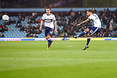 12th September 2017, Villa Park, Birmingham, England; EFL Championship football, Aston Villa versus Middlesbrough; Lewis Baker of Middlesbrough takes a shot at goal from a free kick on the edge of the box