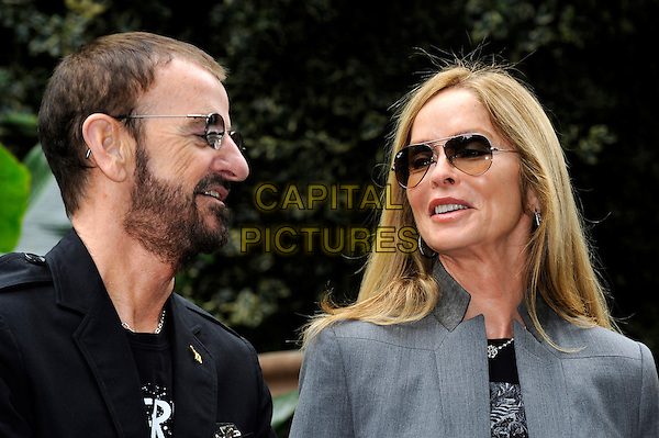 Ringo Starr & Barbara Bach.The Chelsea Flower Show 2012, London, England..May 21st, 2012.headshot portrait black beard facial hair sunglasses shades grey gray profile married husband wife .CAP/CJ.©Chris Joseph/Capital Pictures.