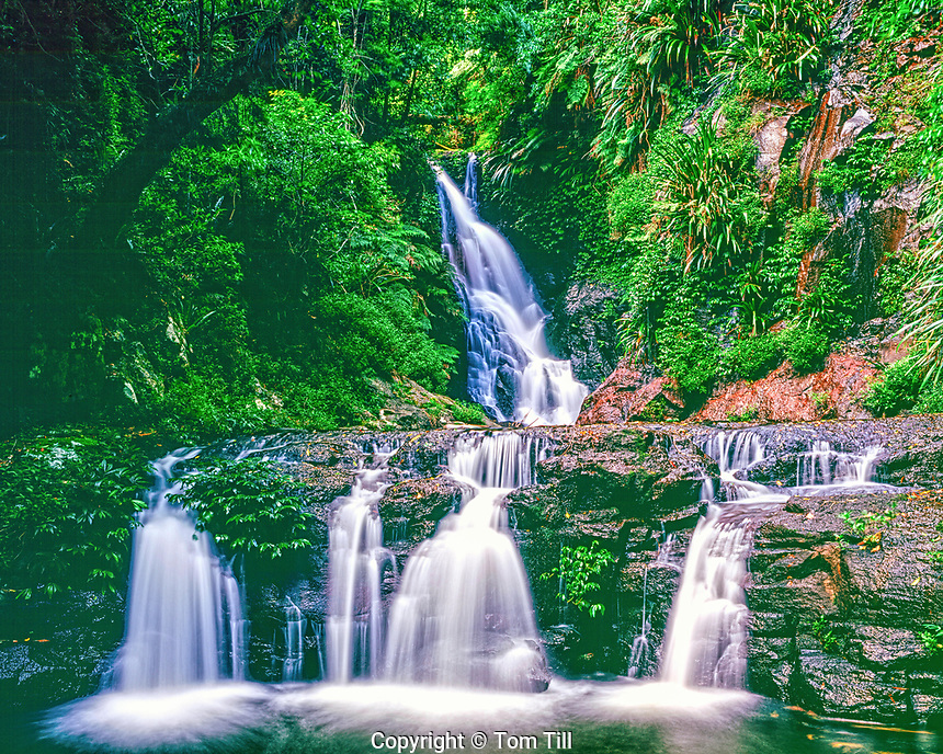 Elabana Falls, Lamington National Park, Queensland, Australia, rainforest on Lamington Plateau, near Brisbane