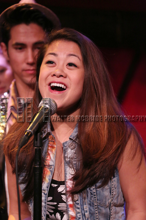 Charlotte Mary Wen from the cast of 'One Day - The Musical' performing a sneak peek of the new pop-rock Musical at Rockwood Music Hall on January 28, 2015 in New York City.