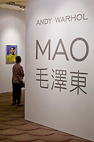 Andy Warhol exhibition called Mao in Hong Kong on May 26, 2008.  Photo by Victor Fraile / studioEAST