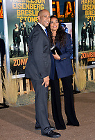 "LOS ANGELES, USA. October 11, 2019: Senator Cory Booker & Rosario Dawson at the premiere of ""Zombieland: Double Tap"" at the Regency Village Theatre.<br /> Picture: Paul Smith/Featureflash"