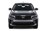 Car photography straight front view of a 2020 KIA Sorento S-V6 5 Door SUV Front View