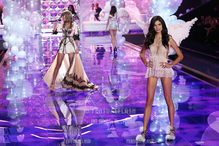 Lily Aldridge on the runway at the Victoria's Secret Fashion Show 2014 London held at Earl's Court, London. 02/12/2014 Picture by: James Smith / Featureflash