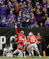 Ohio State Buckeyes cornerback Shaun Wade (24) comes up with the interception against Northwestern Wildcats wide receiver Flynn Nagel (2) during the 2nd quarter in the Big Ten Championship game in Indianapolis, Ind on December 1, 2018.  [Kyle Robertson/Dispatch]