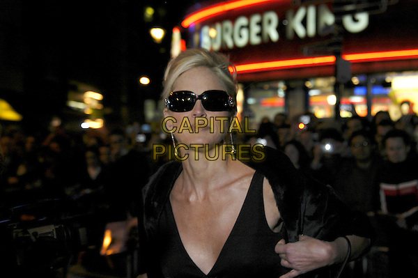 "SHARON STONE .""Basic Instinct 2: Risk Addiction"" world film premiere at.Vue cinema, Leicester Square, London England .March 15th, 2006.Ref: IA.headshot portrait sunglasses shades jewel encrusted dangling earrings.www.capitalpictures.com.sales@capitalpictures.com.©Capital Pictures"