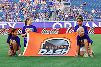 Orlando, FL - Thursday June 23, 2016: Banner during a regular season National Women's Soccer League (NWSL) match between the Orlando Pride and the Houston Dash at Camping World Stadium.