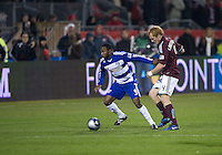 21 November 2010: FC Dallas forward Jeff Cunningham #9 and Colorado Rapids midfielder Jeff Larentowicz #4 in action during the 2010 MLS CUP between the Colorado Rapids and FC Dallas at BMO Field in Toronto, Ontario Canada..The Colorado Rapids won 2-1 in extra time....