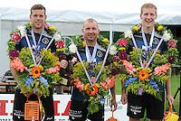 KAATSEN: BOLSWARD: 12-07-2015, Hylke Bruinsma, Johan van der Meulen (koning) en Hendrik Kootstra winnen, ©foto Martin de Jong