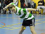 Karen Lawlor playing at the new handball courts at O'Raghalligh's. Photo: Colin Bell/pressphotos.ie