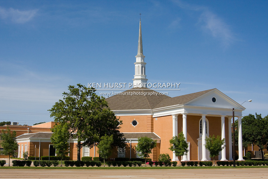 Large classic design suburban Christian church.