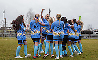 George Harrison (3rd left) (TOWIE) celebrates 3rd place with teammates during the SOCCER SIX Celebrity Football Event at the Queen Elizabeth Olympic Park, London, England on 26 March 2016. Photo by Andy Rowland.