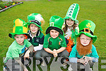 Enjoying the St Patricks Day celebrations in Cullina National School, Beaufort, with festivities and ceilis on Friday were Daire Murphy, Cormac Daly, Marc O'Sullivan Rouse, Caoimhe Foley and Cian O'Shea.............