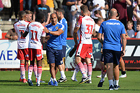 Final whistle  during Stevenage vs Tranmere Rovers, Sky Bet EFL League 2 Football at the Lamex Stadium on 4th August 2018