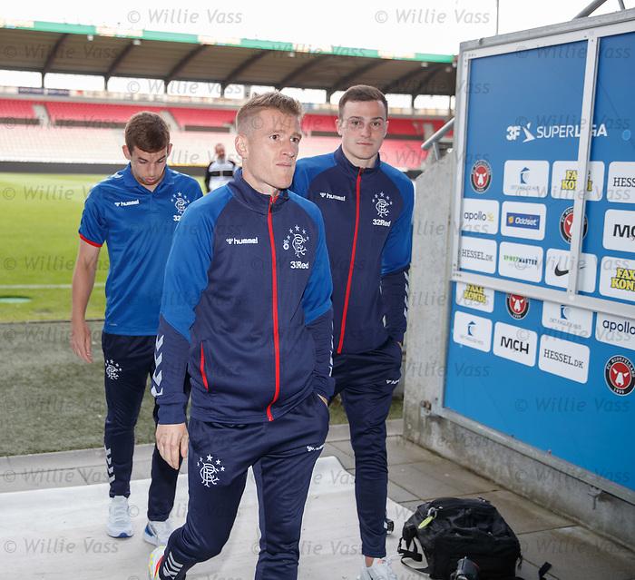 07.08.2019 FC Midtjylland and Rangers pressers: Steven Davis