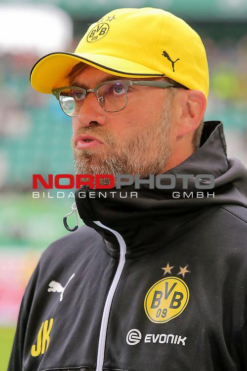16.05.2015 Volkswagen Arena, Wolfsburg, GER, 1.FBL, VfL Wolfsburg vs Borussia Dortmund, im Bild <br /> <br /> BvB Trainer J&uuml;rgen Klopp vorm Spiel<br /> <br /> Foto &copy; nordphoto / Rust