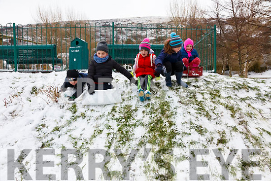 Having fun on the Slopes in Cahersiveen on Friday were l-r; Kevin Foster, Kevin Sliauteris, Katie Foster, Sarah & Louise O'Connor.
