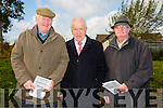 Enjoying the Listowel Coursing on Sunday were l-r  Pat Flaherty, Ballybunion, Minister Jimmy Deenihan, TD, Listowel and Dan Sullivan, Listowel