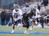 Washington, DC - April 7, 2018: Providence Friars Alex George (46) gets the ground ball during game between Providence and Georgetown at  Cooper Field in Washington, DC.   (Photo by Elliott Brown/Media Images International)
