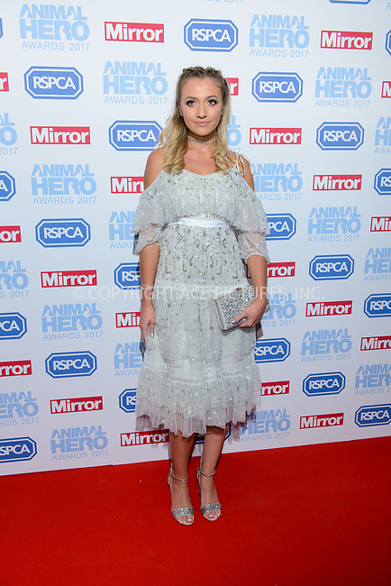 www.acepixs.com<br /> <br /> September 7 2017, London<br /> <br /> Tilly Keeper attending the Animal Hero Awards 2017 on at the Grosvenor Hotel on September 7 2017 in London<br /> <br /> By Line: Famous/ACE Pictures<br /> <br /> <br /> ACE Pictures Inc<br /> Tel: 6467670430<br /> Email: info@acepixs.com<br /> www.acepixs.com