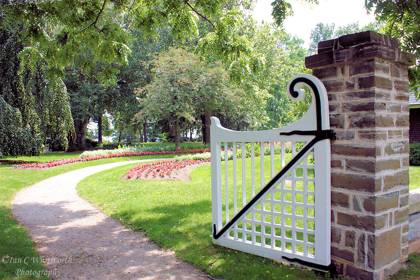 Entry gate into the park in Oakville Ontario