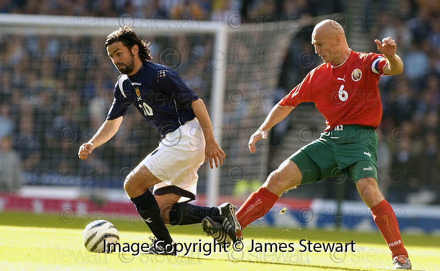 08/10/2005         Copyright Pic : James Stewart.File Name : jspa09 scotland v belarus.PAUL HARTLEY IS TRIPPED BY ANDREI LAVRIK....Payments to :.James Stewart Photo Agency 19 Carronlea Drive, Falkirk. FK2 8DN      Vat Reg No. 607 6932 25.Office     : +44 (0)1324 570906     .Mobile   : +44 (0)7721 416997.Fax         : +44 (0)1324 570906.E-mail  :  jim@jspa.co.uk.If you require further information then contact Jim Stewart on any of the numbers above.........