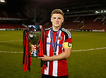 Captain Regan Slater with the league trophy during the Professional Development League play-off final match at Bramall Lane Stadium, Sheffield. Picture date: May 10th 2017. Pic credit should read: Simon Bellis/Sportimage