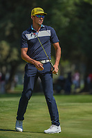 Rafael Cabrera Bello (ESP) reacts to barely missing his birdie putt on 9 during round 4 of the World Golf Championships, Mexico, Club De Golf Chapultepec, Mexico City, Mexico. 3/4/2018.<br /> Picture: Golffile | Ken Murray<br /> <br /> <br /> All photo usage must carry mandatory copyright credit (&copy; Golffile | Ken Murray)