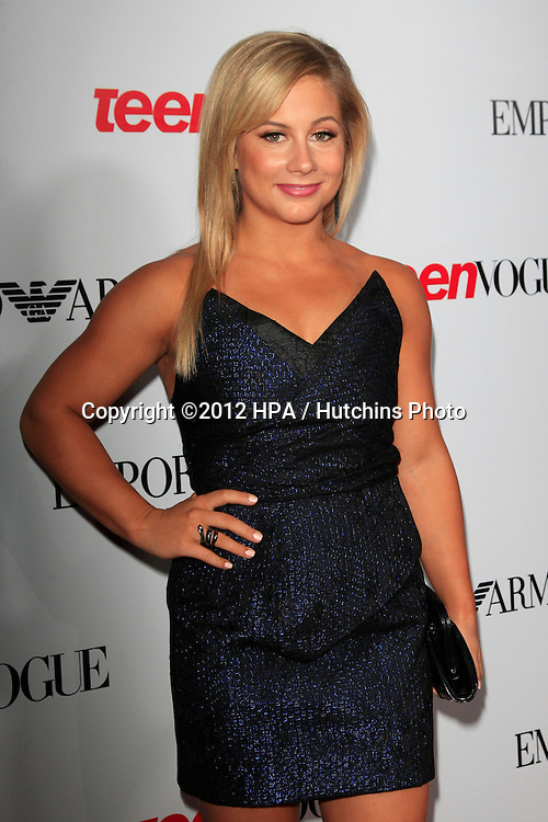 LOS ANGELES - SEP 27:  Shawn Johnson at the Teen Vogue's 10th Annual Young Hollywood Party at Private Location on September 27, 2012 in Beverly Hills, CA