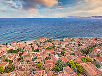 The Byzantine castle-town of Monemvasia in Greece