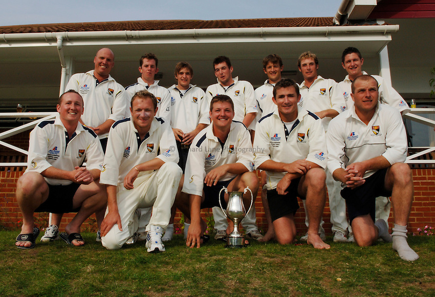 Photo: Henry Browne..Norfolk CC v Wiltshire CC. MCCA Knockout Trophy Final..31/08/2005...Wiltshire team.