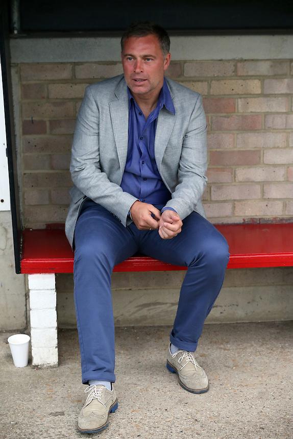 Crystal Palace manager Alan Pardew <br /> Photographer Kieran Galvin/CameraSport<br /> <br /> Football - Pre-Season Friendly - Dagenham &amp; Redbridge v Crystal Palace Monday 3rd August 2015 - Victoria Road Stadium - Dagenham<br /> <br /> &copy; CameraSport - 43 Linden Ave. Countesthorpe. Leicester. England. LE8 5PG - Tel: +44 (0) 116 277 4147 - admin@camerasport.com - www.camerasport.com