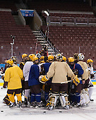 - The University of Minnesota Golden Gophers practiced on Wednesday, April 9, 2014, at the Wells Fargo Center during the 2014 Frozen Four in Philadelphia, Pennsylvania.