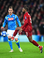 Liverpool's Georginio Wijnaldum in action<br /> <br /> Photographer Richard Martin-Roberts/CameraSport<br /> <br /> UEFA Champions League Group C - Liverpool v Napoli - Tuesday 11th December 2018 - Anfield - Liverpool<br />  <br /> World Copyright © 2018 CameraSport. All rights reserved. 43 Linden Ave. Countesthorpe. Leicester. England. LE8 5PG - Tel: +44 (0) 116 277 4147 - admin@camerasport.com - www.camerasport.com