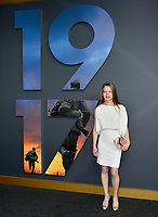 "LOS ANGELES, USA. December 19, 2019: Claire Duburcq at the premiere of ""1917"" at the TCL Chinese Theatre.<br /> Picture: Paul Smith/Featureflash"