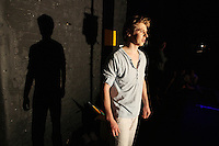18/10/2010. Romeo and Juilet. Pictured back stage during rehersals at the Gaiety Theatre, Dublin is Romeo (played bt David Horn) . choreographed by Morgann Runacre-Temple. The production will have its world premiere at the Gaiety Theatre on Tuesday October 19th.  The company of 16 will include Irish and International dancers and will tour to 31 venues in both Ireland and England over the coming months. Picture James Horan/Collins Photos