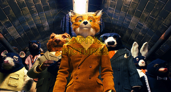 MR. FOX (George Clooney), BADGER (Bill Murray) & KYLIE (Wallace Wolodarsky).in Fantastic Mr. Fox.*Filmstill - Editorial Use Only*.CAP/FB.Supplied by Capital Pictures.