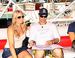 One Life To Live Terri Conn and Austin Peck - Celebrities take a break and enjoy themselves on the pontoon boat - SWSL Soapfest Charity Weekend May 14 & 15, 2011 benefitting several children's charities including the Eimerman Center providing educational & outfeach services for children for autism. see www.autismspeaks.org. (Photo by Sue Coflin/Max Photos)
