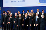 Brussels-Belgium - January 30, 2012 -- Extraordinary European Council, EU-summit; here, Heads of State / Government prepare for the family photo  -- Photo: © HorstWagner.eu