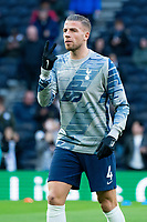 Tottenham Hotspur's Toby Alderweireld during the pre-match warm-up <br /> <br /> Photographer Stephanie Meek/CameraSport<br /> <br /> The Premier League - Tottenham Hotspur v Bournemouth - Saturday 30th November 2019 - Tottenham Hotspur Stadium - London<br /> <br /> World Copyright © 2019 CameraSport. All rights reserved. 43 Linden Ave. Countesthorpe. Leicester. England. LE8 5PG - Tel: +44 (0) 116 277 4147 - admin@camerasport.com - www.camerasport.com