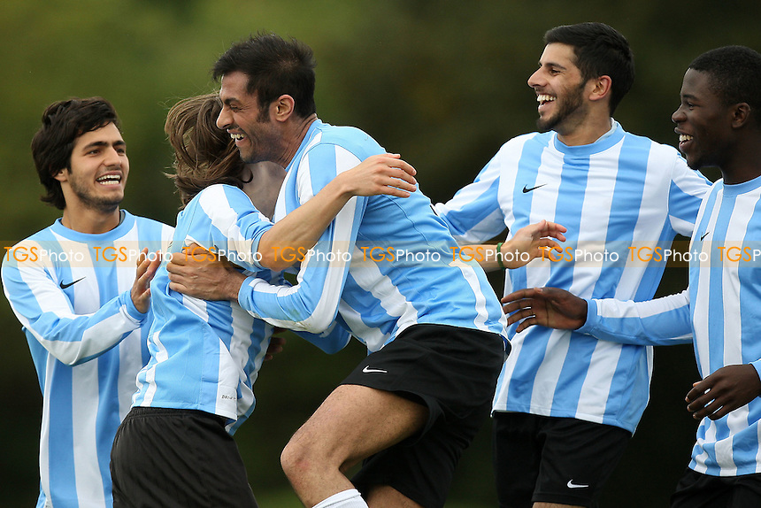 Para Siempre (light blue/white) vs Athletico Angels - Hackney & Leyton Sunday League Football at East Marsh, Hackney Marshes - 26/09/10 - MANDATORY CREDIT: Gavin Ellis/TGSPHOTO - Self billing applies where appropriate - Tel: 0845 094 6026