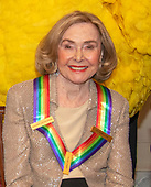 Sesame Street co-founder Joan Ganz Cooney, one of the recipients of the 42nd Annual Kennedy Center Honors poses as part of a group photo following a dinner at the United States Department of State in Washington, D.C. on Saturday, December 7, 2019.  The 2019 honorees are: Earth, Wind & Fire, Sally Field, Linda Ronstadt, Sesame Street, and Michael Tilson Thomas.<br /> Credit: Ron Sachs / Pool via CNP