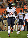 CLEVELAND, OH - SEPTEMBER 1, 2016: Tight end Khari Lee #82 of the Chicago Bears is put in motion in the second quarter of a game on September 1, 2016 against the Cleveland Browns at FirstEnergy Stadium in Cleveland, Ohio. Chicago won 21-7. (Photo by: 2016 Nick Cammett/Diamond Images)  *** Local Caption *** Khari Lee